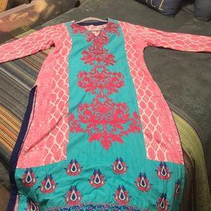 Kurta turquoise and pink sz 42